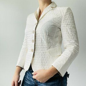 Akris Punto Blazer Jacket Quilted Long Sleeve Luxe